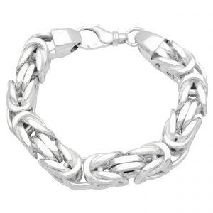 Königsarmband 16x16mm 925er Silber