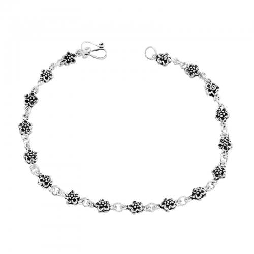 Blumenarmband 925er Silber