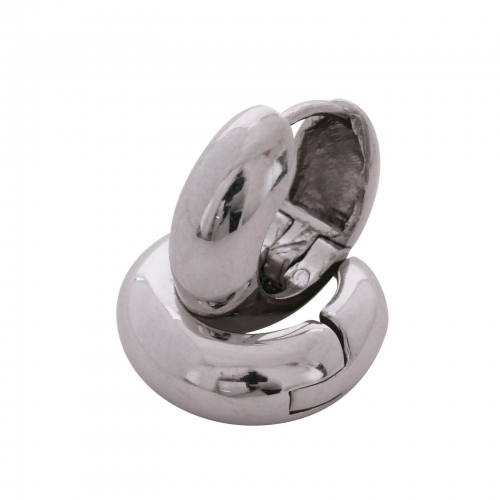 Klapp Creolen Basic 925 Silber Rhodiniert