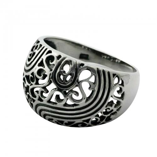 Ornament Ring 925er Silber