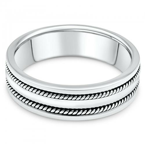 Ring mit Linien 925er Silber