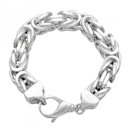 Königsarmband 14x14mm 925er Silber