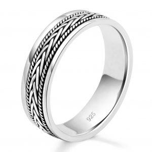 Ring mit Flechtmuster 925er Silber