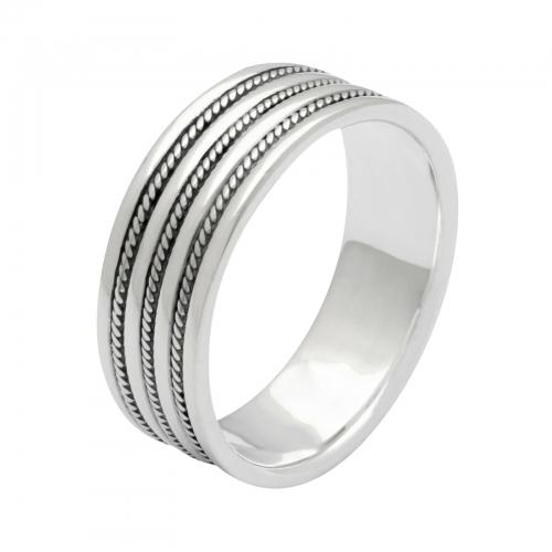 Ring mit Linienmuster 925er Silber