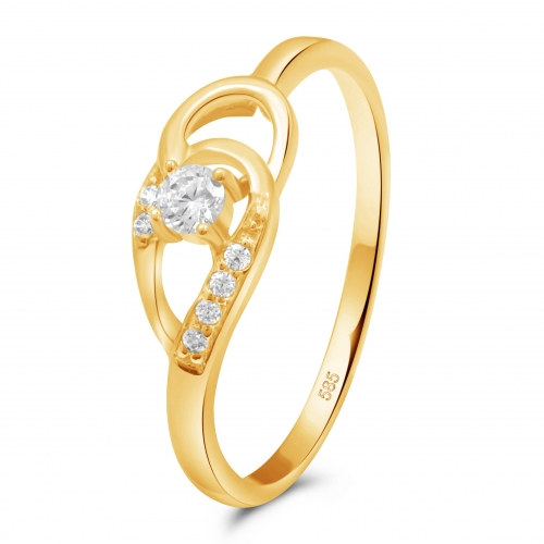 Puzzle Ring 585er Gold