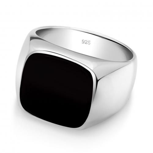Siegelring Onyx 925er Silber