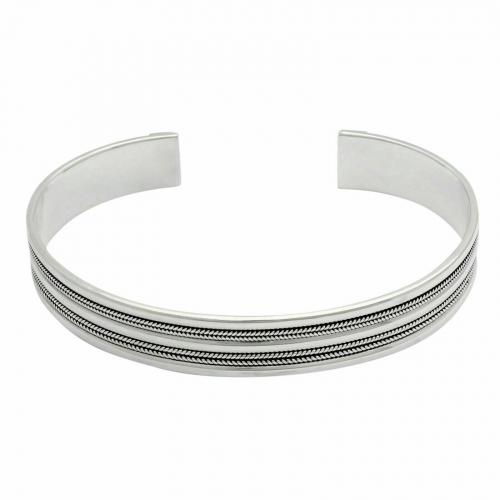 Armreif mit Linien 925er Silber