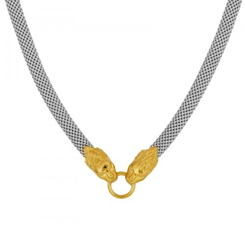 Löwenkette 925er Silber