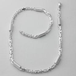 Monte Carlo 7 mm Halskette Silberkette