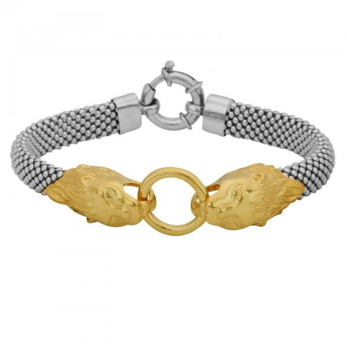Löwenarmband 925er Silber