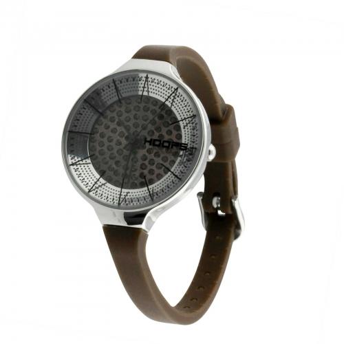 Hoops Damen Uhr Braun mit Strasssteinen