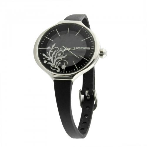 Hoops Damen Uhr Schwarz