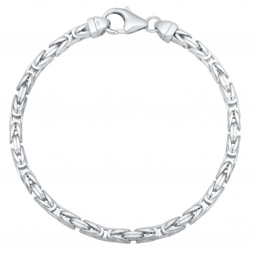 Königsarmband 4mm 925er Silber