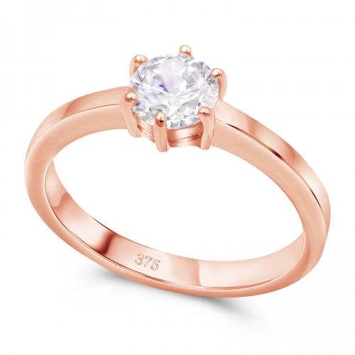 Solitär Verlobungs Ring 375er Rose Gold