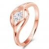 Solitär Ring 375 Rose Gold
