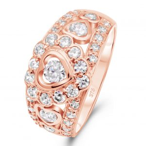 Herz Ring 375 Rose Gold