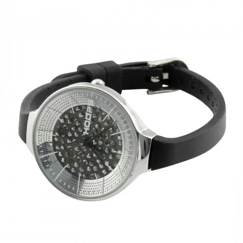 Hoops Damen Uhr Schwarz mit Strasssteinen