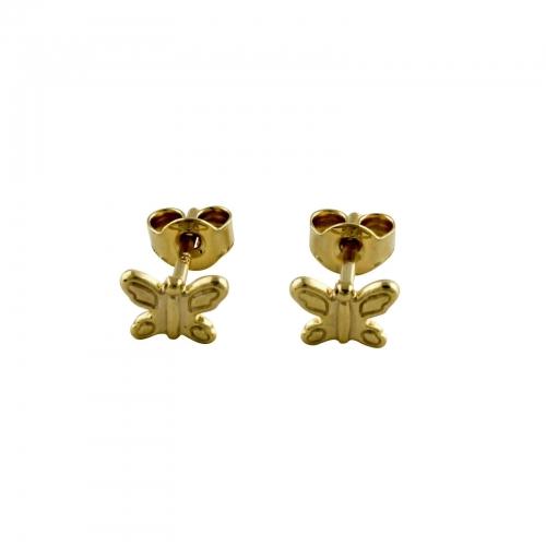 Schmetterling Creolen Kinder 585er Gold
