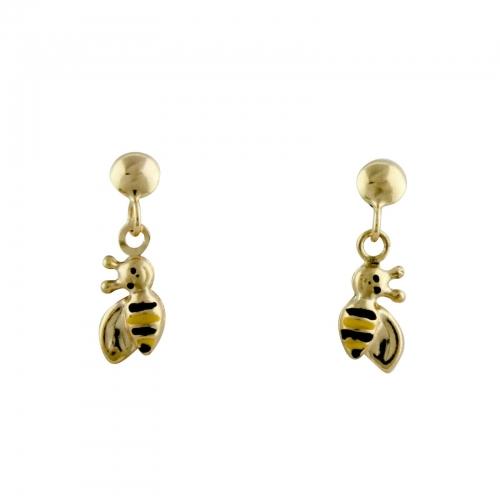 Bienen Ohrstecker Kinder 585er Gold