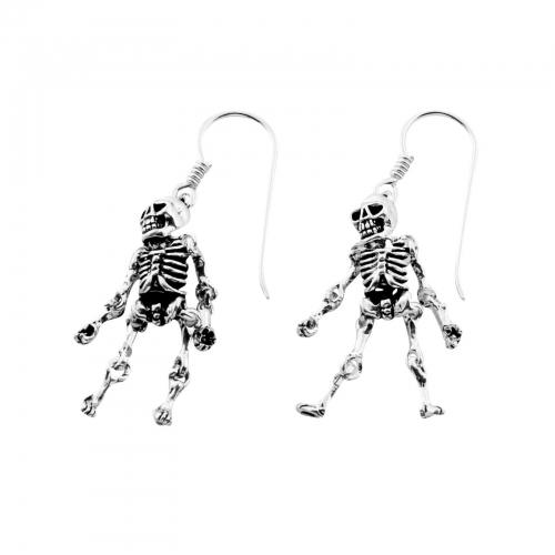 Skelett Ohrringe 925er Silber