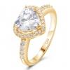 Herz Ring 585 Gelbgold