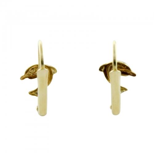 Delfin Ohrringe 585er Gelbgold Kinderschmuck