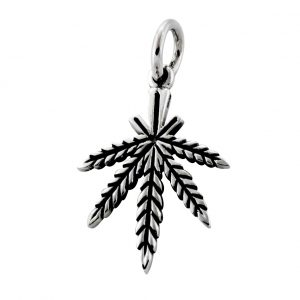Cannabis Anhänger 925er Silber