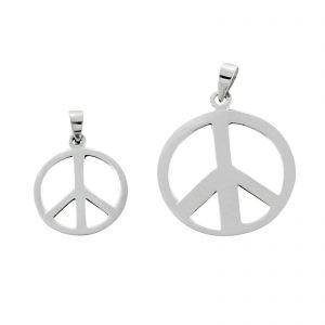 Peace Anhänger 925er Silber