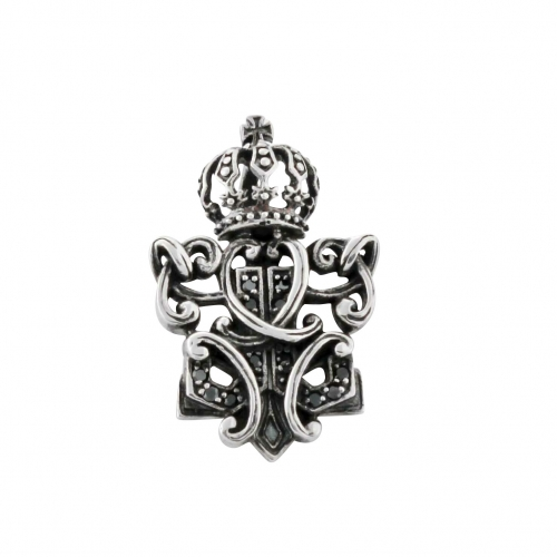 Krone Anhänger 925er Silber