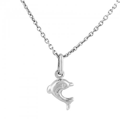 Delfin Kette Kinder 925er Silber