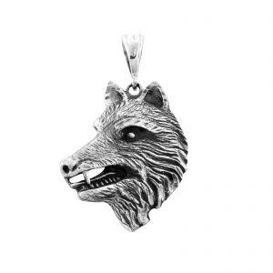 Wolf Anhänger 925er Silber