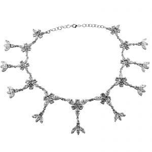 Silber Collier Kette mit Zirkoniastein