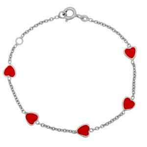 Herz Armband Kinder 925er Silber