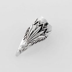 Silber Ring Echter Onyx mit Rahmen 925 Sterling Siegelring Herrenring Rhodiniert