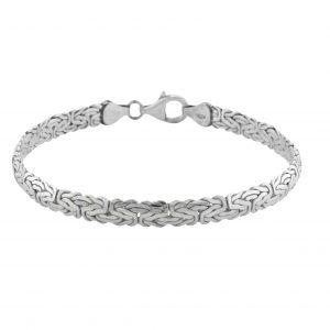 Königsarmband Flach 925er Silber