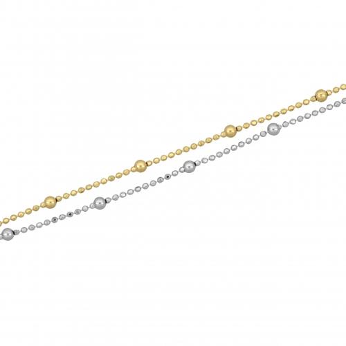 Fußkettchen Vergoldet 925er Silber