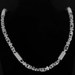 Monte Carlo 11mm Massiv Echtschmuck 925 Silber Silberschmuck Halskette