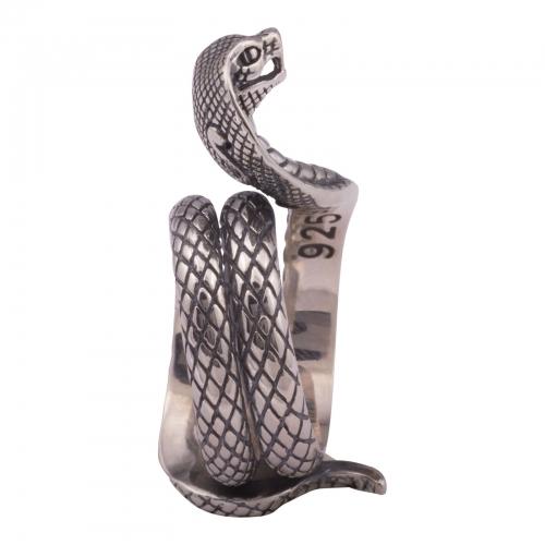 Schlangering Oxidiert 925 Sterling Silber Herren