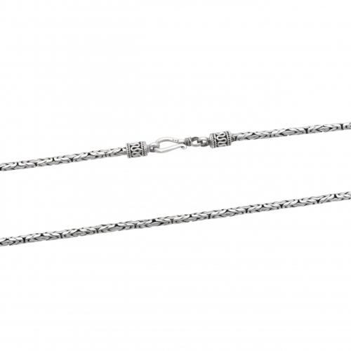 Anker Anhänger 925 Sterling Silber Oxidiert Herren mit Halskette Königskette
