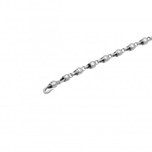 Totenkopf Armband Herren 925 Sterling Silber Oxidiert Schädel Skull Gothic