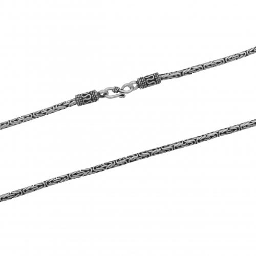 Kronen Anhänger 925 Sterling Silber Königskette Halskette Oxidiert