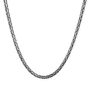 Königskette Oxidiert 6mm 925er Silber