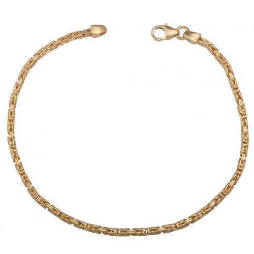 Königsarmband 2×2 mm 585 Gold