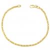 Königsarmband 2x2 mm 585 Gold