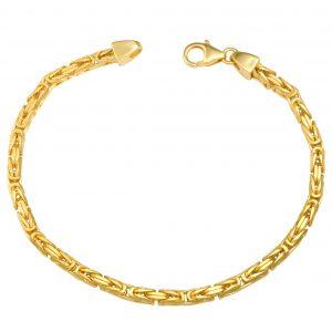 Königsarmband 3x3 mm 585er Gold