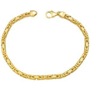 Königsarmband 4x4 mm 585er Gold