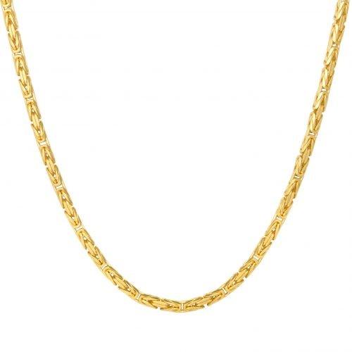 Königskette 4x4 mm 585er Gold