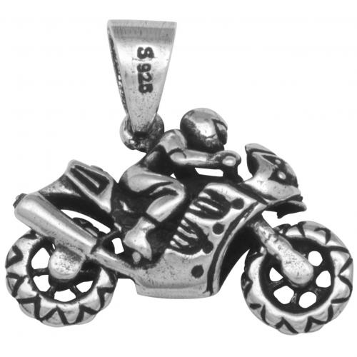 Motorrad Anhänger 925 Sterling Silber