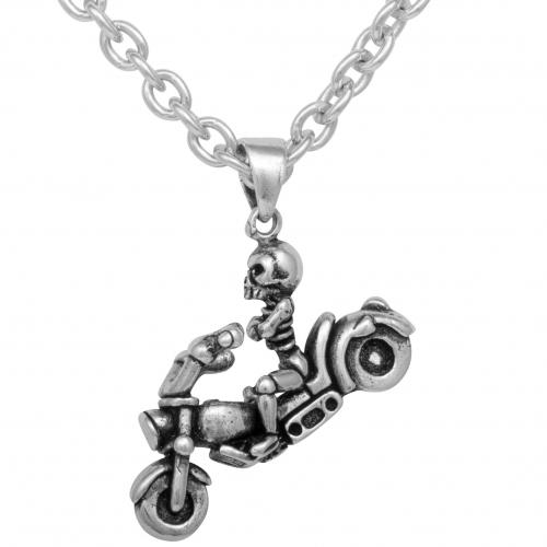 Motorrad Anhänger Ghost Rider 925 Sterling Silber