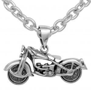 Motorrad Anhänger Chopper 925 Sterling Silber